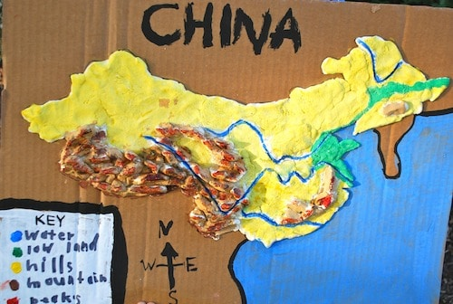 China 3D Salt Dough Map- Kid World Citizen