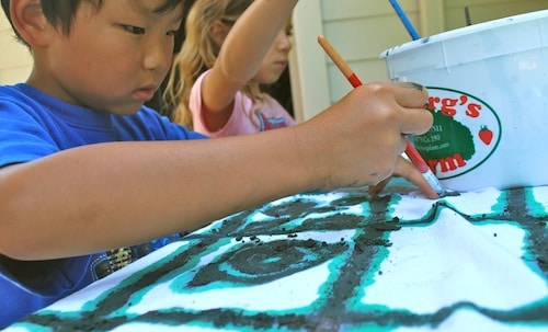Kids Painting Mud Cloth- Kid World Citizen