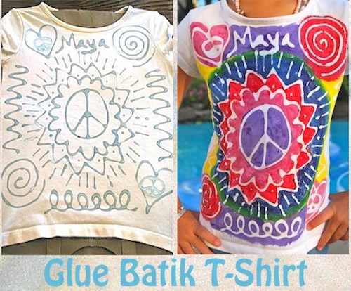 Diy Glue Batik T Shirts