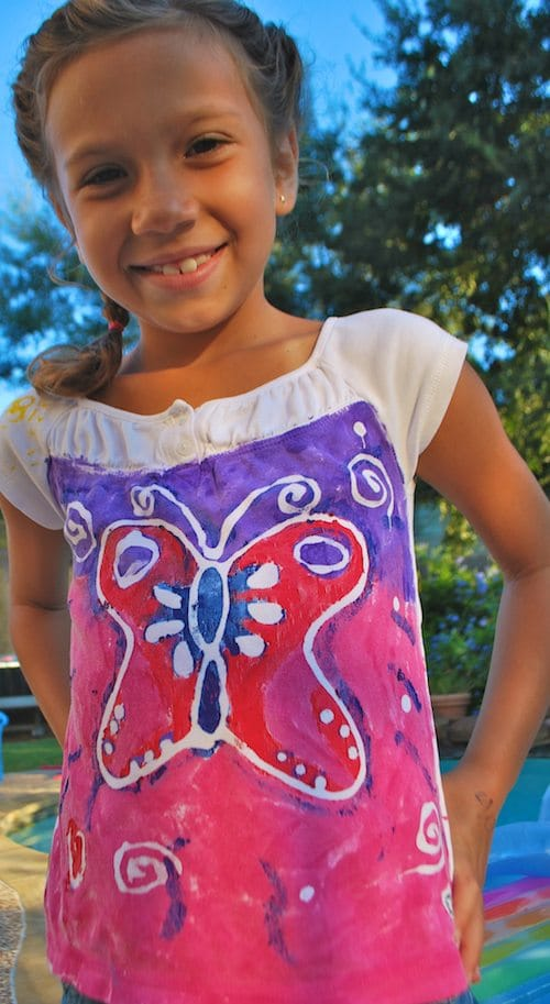 91112Kids Painting Tshirts Batik Summer T Shirt Ideas