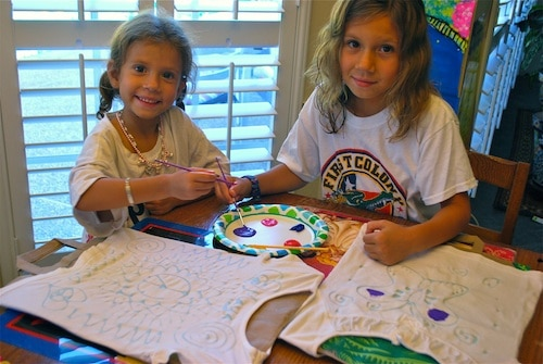 Painting Batik at Home Kids- Kid World Citizen