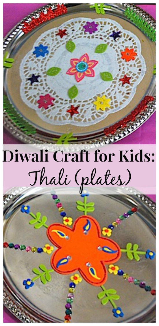 diwali craft ideas for children decorate thali plates for a simple diwali craft 6447