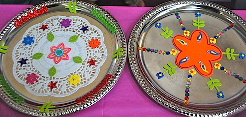 Thali for Art and craft for diwali decoration