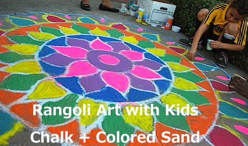 Rangoli Art for Diwali Crafts Kids- Kid World Citizen