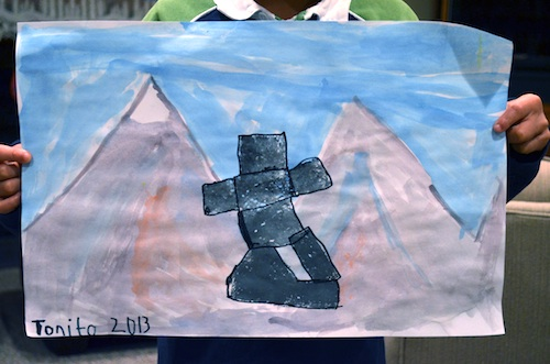 Inukshuk Paintings by Kids- Kid World Citizen