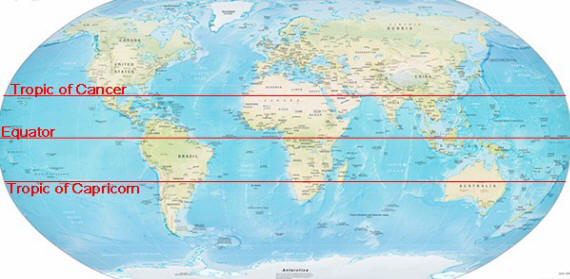 Tropic Of Cancer And Capricorn Maps Kids Kid World Citizen Kid - Map of us tropic of cancer