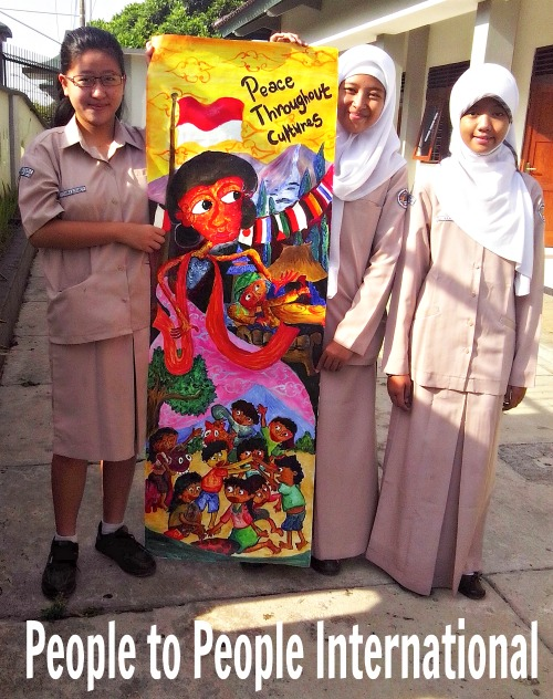 People to people international ptpi connects your class for Mural indonesia