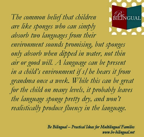 Be Bilingual Book Quote- Kid World Citizen