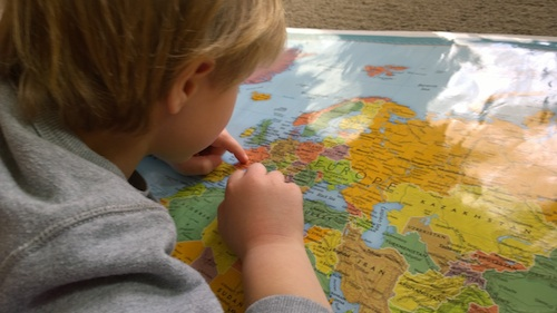 Geography Lessons from Home Kids- Kid World Citizen