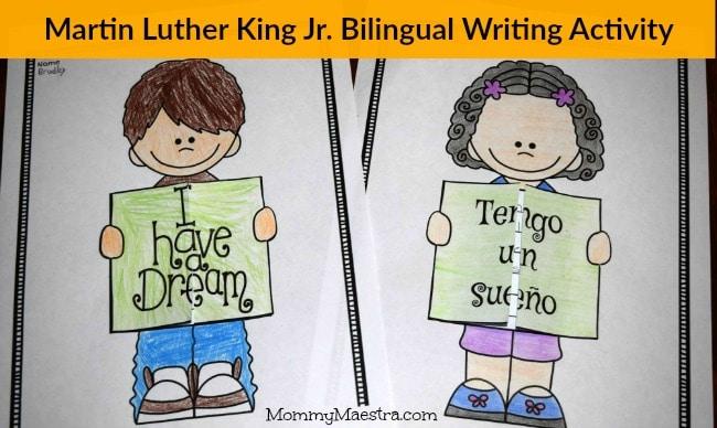 MLK writing activity MommyMaestra- Kid World Citizen