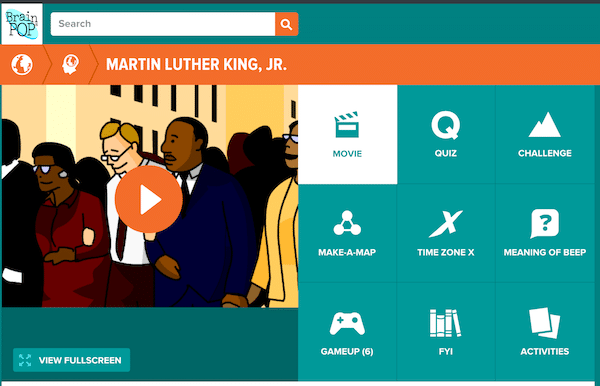 Martin Luther King Video- Kid World Citizen